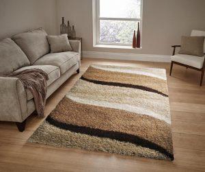 Barna-bézs shaggy szőnyeg